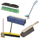 brooms, brushes & dust pans